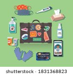 essentials items to carry for... | Shutterstock .eps vector #1831368823