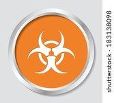 White Vector Biohazard Symbol...