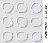 set of vector grey original... | Shutterstock .eps vector #183138104