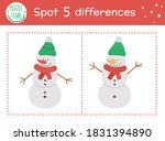 christmas find differences game ... | Shutterstock .eps vector #1831394890