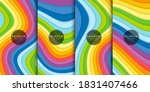 abstract rainbow curved... | Shutterstock .eps vector #1831407466