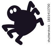 big spider black silhouette on... | Shutterstock .eps vector #1831413700