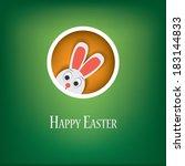 happy easter card vector... | Shutterstock .eps vector #183144833