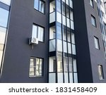 closeup part of new building.... | Shutterstock . vector #1831458409