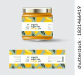 mango jam label and packaging.... | Shutterstock .eps vector #1831466419