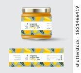 mango jam label and packaging.... | Shutterstock .eps vector #1831466419