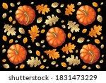Pumpkins  Orange And Golden...