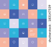 24 application icons for...