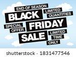 black friday sale banner layout ... | Shutterstock .eps vector #1831477546