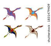 Dinosaur Pterodactyl. Vector...