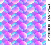 holographic geometric mosaic... | Shutterstock .eps vector #1831480126