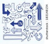sketchy arrow doodles  | Shutterstock . vector #183148154
