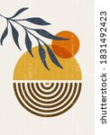 burnt orange sun print boho... | Shutterstock .eps vector #1831492423