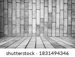 empty grey interior  vintage... | Shutterstock . vector #1831494346