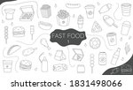 fast food doodle volume    Shutterstock .eps vector #1831498066