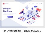 landing page template with bank ... | Shutterstock .eps vector #1831506289