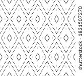 tribal ikat pattern. white and... | Shutterstock .eps vector #1831507270