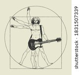 Da Vinci Man Playing Rock...
