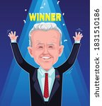 joe biden is the happy of the... | Shutterstock .eps vector #1831510186