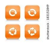 4 arrow orange icon. white...