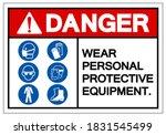 danger personal protective...   Shutterstock .eps vector #1831545499