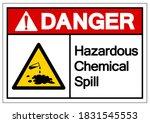 danger hazardous chemical spill ...   Shutterstock .eps vector #1831545553