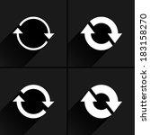 4 arrow icon. set 02. refresh ...   Shutterstock .eps vector #183158270
