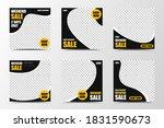 a set of social media template... | Shutterstock .eps vector #1831590673