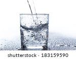 glass with water on the table | Shutterstock . vector #183159590