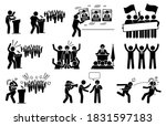 politic candidate rally during...   Shutterstock .eps vector #1831597183