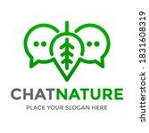 chat nature vector logo... | Shutterstock .eps vector #1831608319