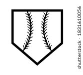 home plate silhouette .home...   Shutterstock .eps vector #1831610056