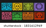 paper flags  vector mexican day ... | Shutterstock .eps vector #1831612969