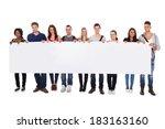 full length portrait of... | Shutterstock . vector #183163160