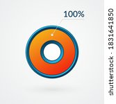 100 percent isolated chart.... | Shutterstock .eps vector #1831641850