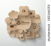 vector cardboard graphics | Shutterstock .eps vector #183166253