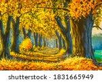 Warm Autumn Original Oil...