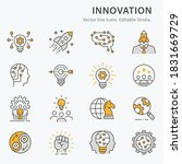 innovation icons  such as...   Shutterstock .eps vector #1831669729