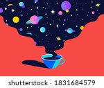 coffee. cup of coffee with...   Shutterstock .eps vector #1831684579