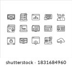 icon set web and developer for...