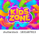 playroom banner. kid game zone  ... | Shutterstock .eps vector #1831687813