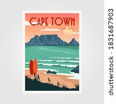 table mountain view in cape... | Shutterstock .eps vector #1831687903