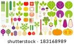 vegetables icon set   Shutterstock .eps vector #183168989