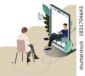 remote mental consultation at... | Shutterstock .eps vector #1831704643