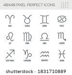 set of zodiac signs vector line ... | Shutterstock .eps vector #1831710889