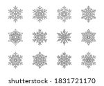 christmas snowflakes collection ... | Shutterstock .eps vector #1831721170