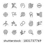 vector set of goal line icons.... | Shutterstock .eps vector #1831737769