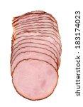 Isolated Sliced Ham