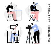 movie production profession set....   Shutterstock .eps vector #1831748923
