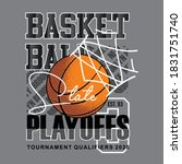 basketball  stay playoffs with... | Shutterstock .eps vector #1831751740
